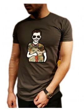 تی شرت مردانه یقعه گرد